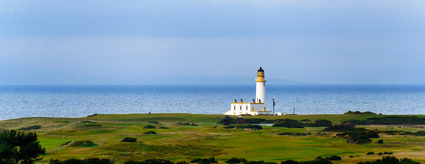 Lighthouse on a golf course